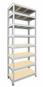 Regał metalowy Biedrax 35 x 120 x 270 cm - 8 półek x 175 kg, biały