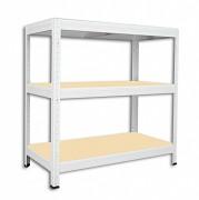 Regał metalowy Biedrax 45 x 60 x 120 cm - 3 półki x 175 kg, biały