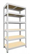 Regał metalowy Biedrax 50 x 75 x 180 cm - 6 półek x 175 kg, biały