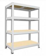 Regał metalowy Biedrax 60 x 90 x 120 cm - 4 półki x 175 kg, biały