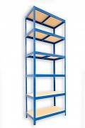 Regał metalowy Biedrax 35 x 60 x 210 cm - 6 półek x 175 kg, niebieski