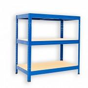 Regał metalowy Biedrax 35 x 75 x 90 cm - 3 półki x 175 kg, niebieski