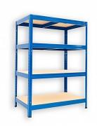 Regał metalowy Biedrax 35 x 75 x 90 cm - 4 półki x 175 kg, niebieski