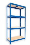 Regał metalowy Biedrax 45 x 60 x 180 cm - 4 półki x 175 kg, niebieski