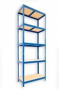 Regał metalowy Biedrax 45 x 60 x 240 cm - 5 półek x 175 kg, niebieski