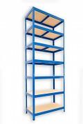Regał metalowy Biedrax 45 x 75 x 270 cm - 7 półek x 175 kg, niebieski