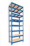 Regał metalowy Biedrax 45 x 120 x 210 cm - 8 półek x 175 kg, niebieski