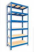 Regał metalowy Biedrax 50 x 120 x 180 cm - 6 półek x 175 kg, niebieski
