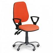 Krzesło biurowe Comfort Biedrax Z9672O z podłokietnikami i chromowaną podstawą