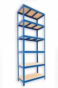 Regał metalowy Biedrax 60 x 120 x 210 cm - 6 półek x 175 kg, niebieski