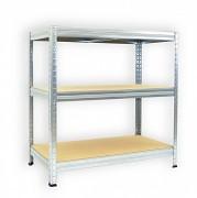 Regał metalowy Biedrax 35 x 75 x 90 cm - 3 półki x 175 kg, ocynkowany