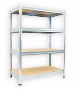 Regał metalowy Biedrax 45 x 90 x 90 cm - 4 półki x 175 kg, ocynkowany