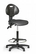 Krzesło robocze PUR Biedrax Z9769 - ze stopkami poślizgowymi i pierścieniem nośnym