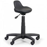 Krzesło laboratoryjne Biedrax Z9830 z ukształtowanym siedziskiem